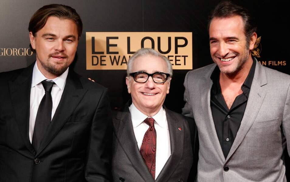Martin Scorsese entouré des deux acteurs