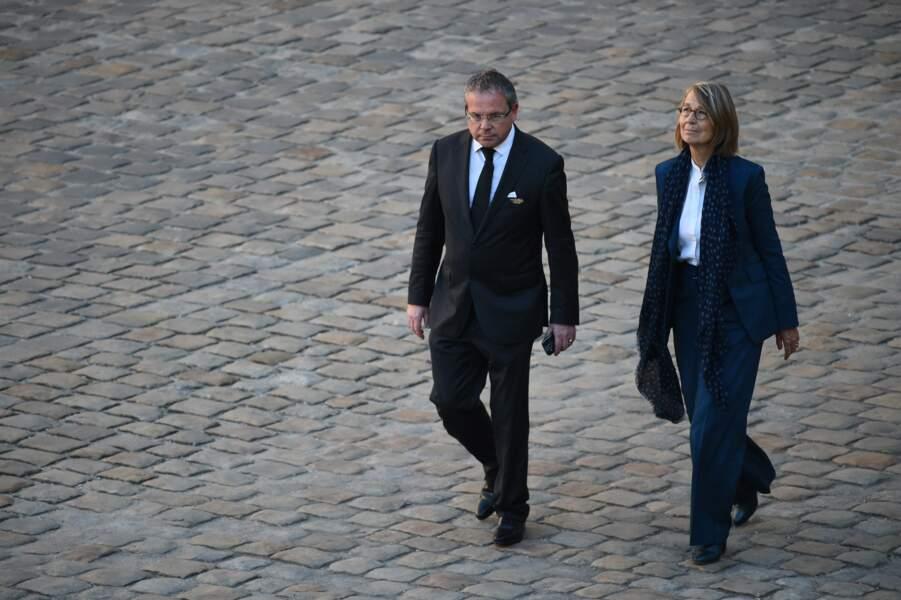 Françoise Nyssen à l'hommage national à Charles Aznavour