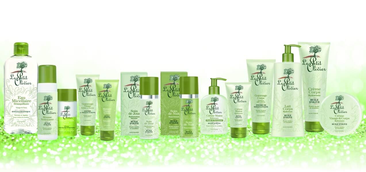 Saga de marque Le Petit Olivier : gamme à l'huile d'olive