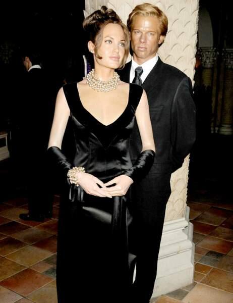 Angelina Jolie et Brad Pitt au Madame Tussauds de New York