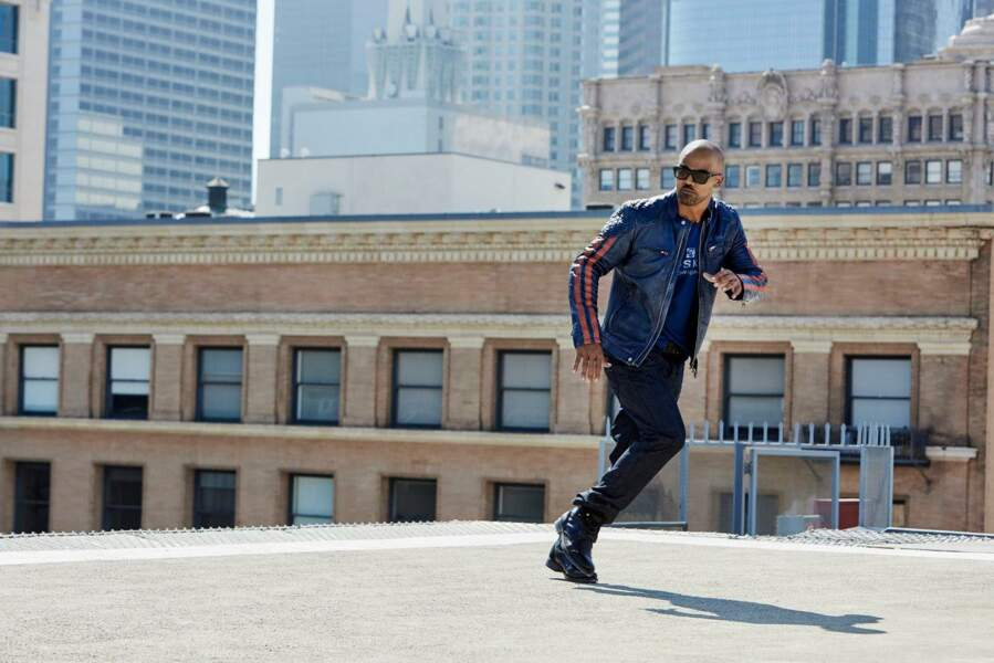 Shemar Moore x Redskins : blouson 325€, t-shirt 40€, jeans 80€
