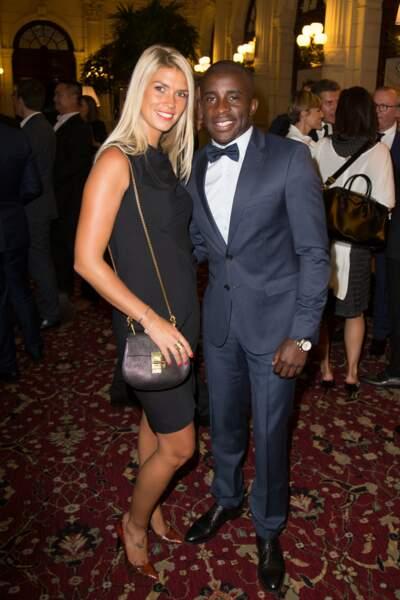 Le footballeur Rio Mavuba et son épouse