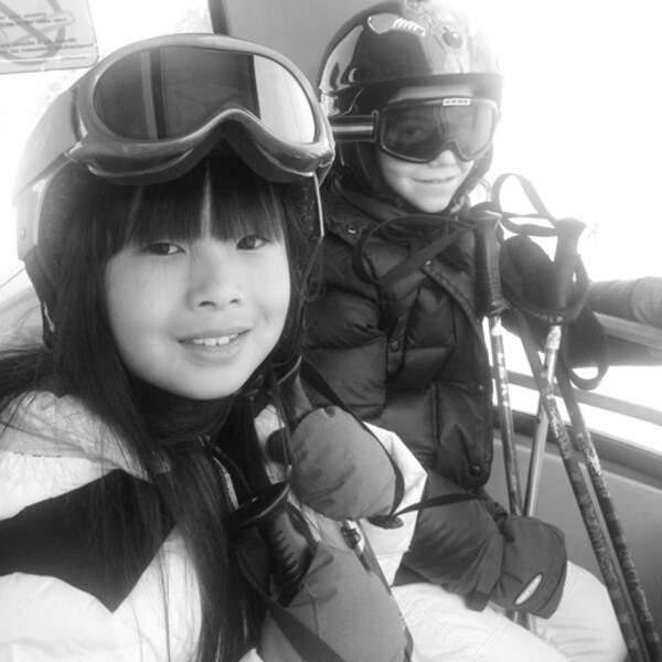 Johnny Hallyday en vacances à Gstaad avec Laeticia et ses filles