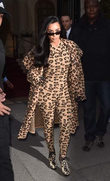 Le 5 mars, Kim Kardashian avait déjà opté pour le look léopard