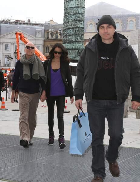 Bruce Willis, sa femme, et un garde du corps.