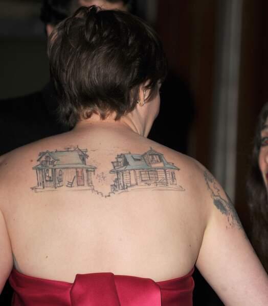 Les plus beaux tatouages sur le dos : Lena Dunham