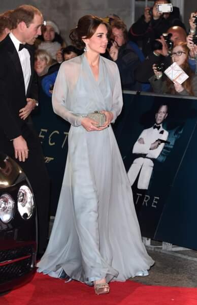 Kate Middleton en Jenny Packham à l'avant-première de Spectre