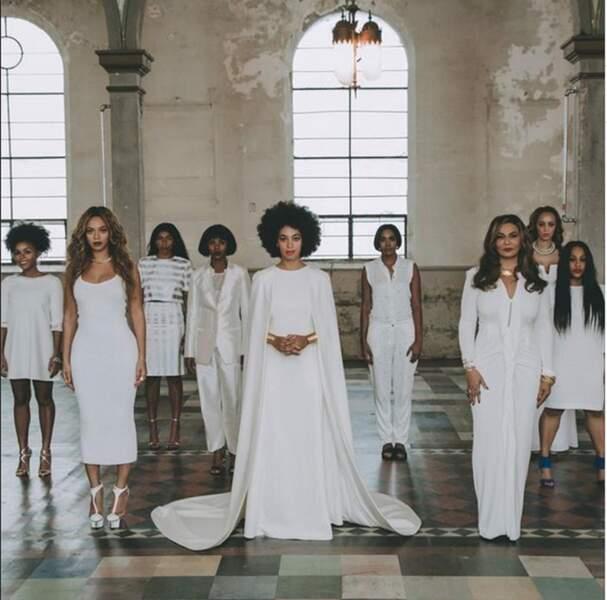 Solange, Beyoncé, Tina et une partie de la famille Knowles