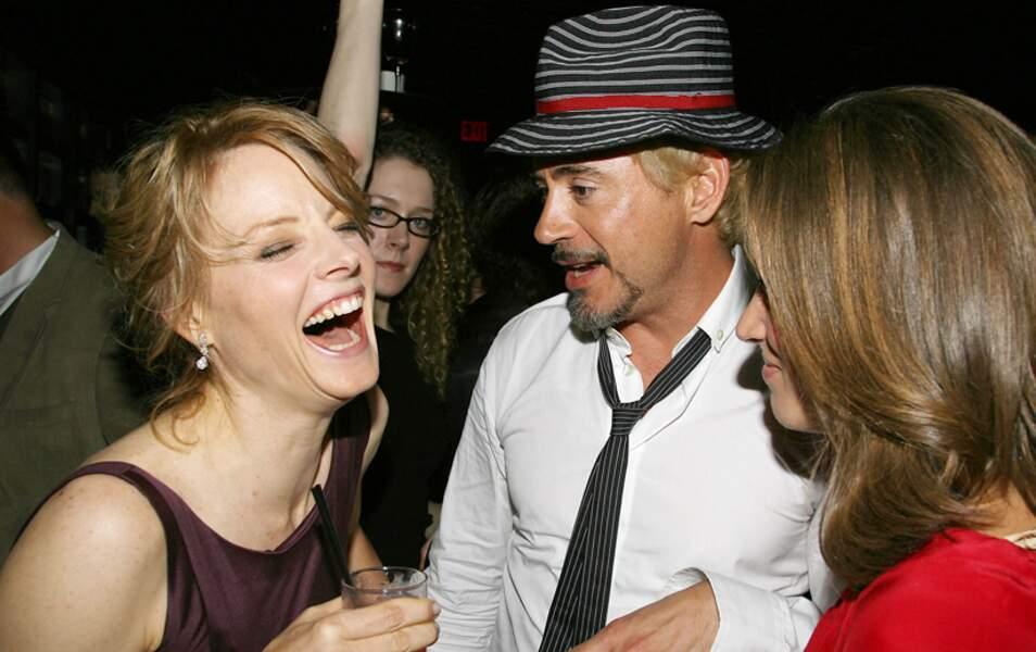 Jodie Foster et Robert Downey Jr.