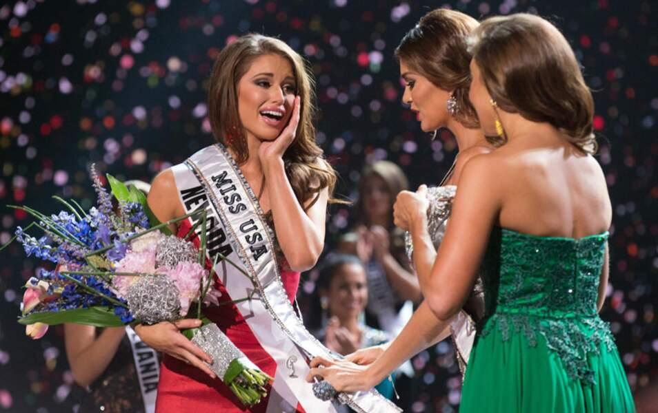 Nia Sanchez n'en revient pas, la nouvelle Miss America, c'est elle