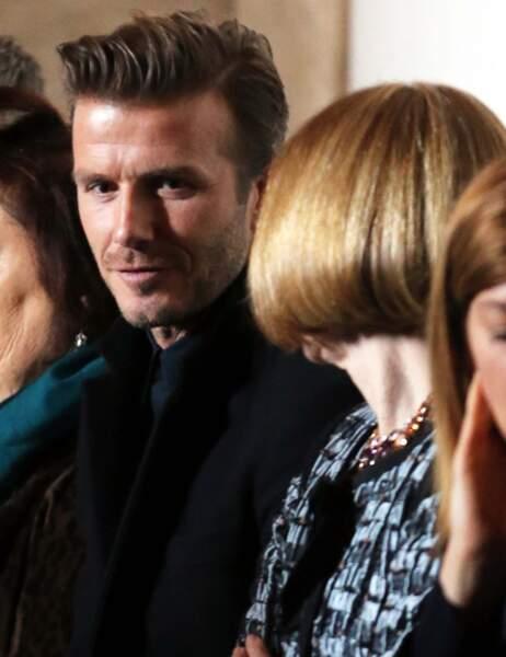 Un petit sourire de David et voilà Victoria dans la poche de la papesse de la mode