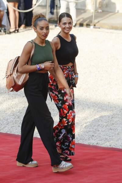 Les Bleus à l'Elysée après leur victoire : Sandra Tolisso et Marine, la femme et la sœur de Corentin Tolisso