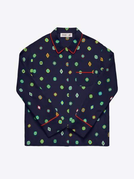 Kenzo x H&M : chemise façon pyjama, 59,99€