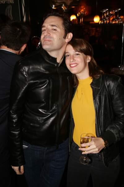 Nicolas Maury et Fanny Sidney à la fête de fin de tournage de la saison 3 de Dix pour cent, le 25 avril à Paris