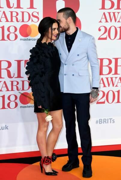 Cheryl Cole et Liam Payne aux Brit Awards 2018, le 21 février à Londres