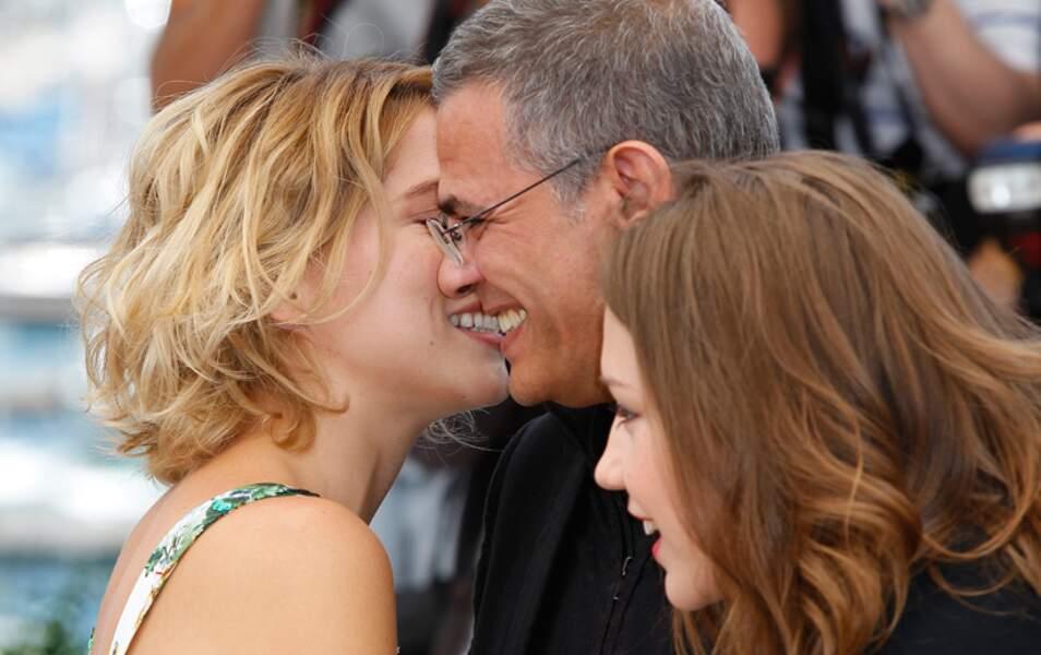 Abdellatif Kechiche manque d'embrasser Léa Seydoux sur la bouche