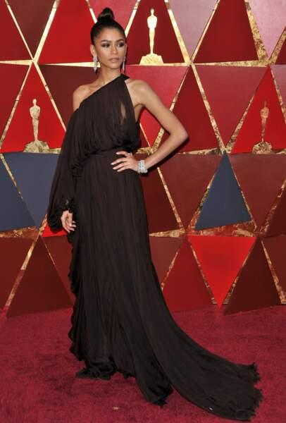 Zendaya à la 90e cérémonie des Oscars, à Los Angeles le 4 mars 2018