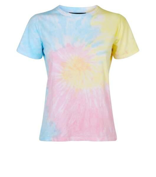 T-shirt bleu effet tie and dye, Newlook, 12,99€