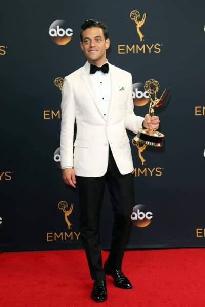 Emmy Awards 2016 : Rami Malek (Mr Robot) en Dior