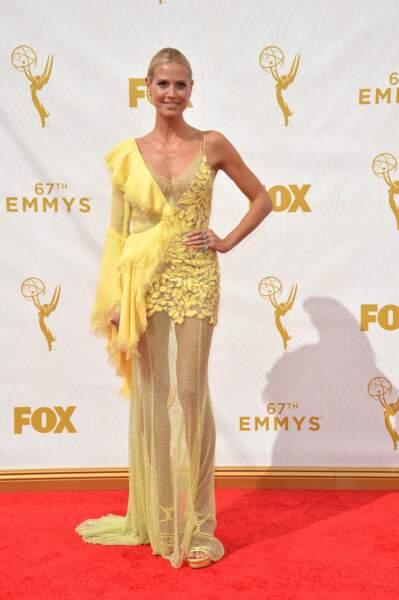 Heidi Klum avait opté pour une robe très... jaune