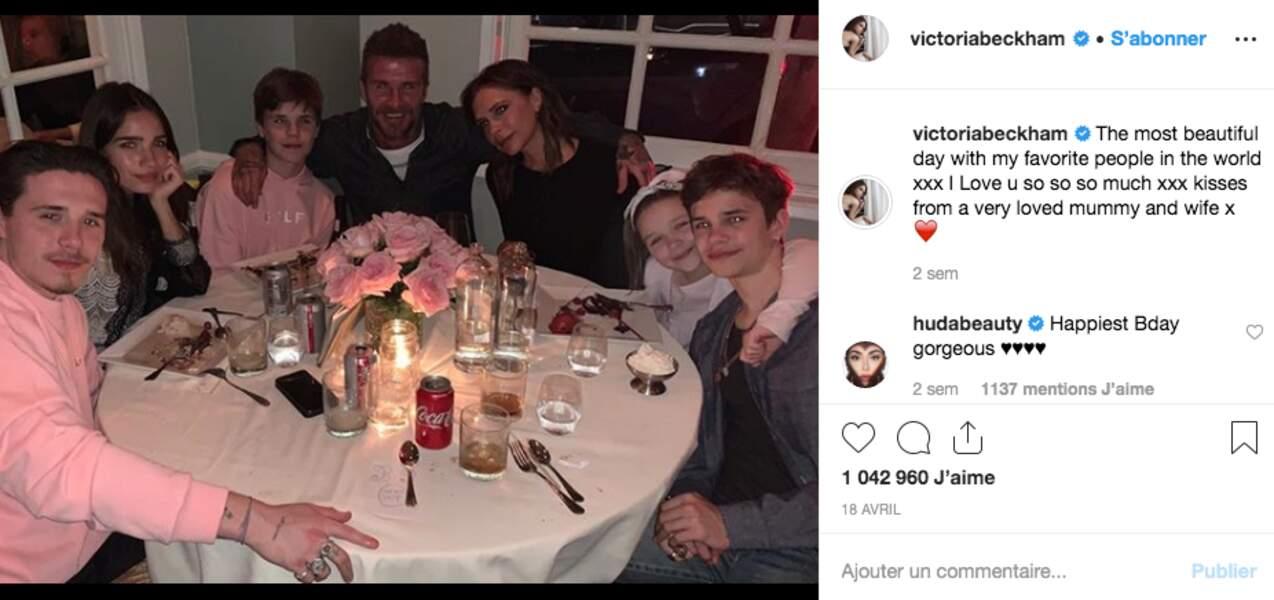 La famille Beckham au complet