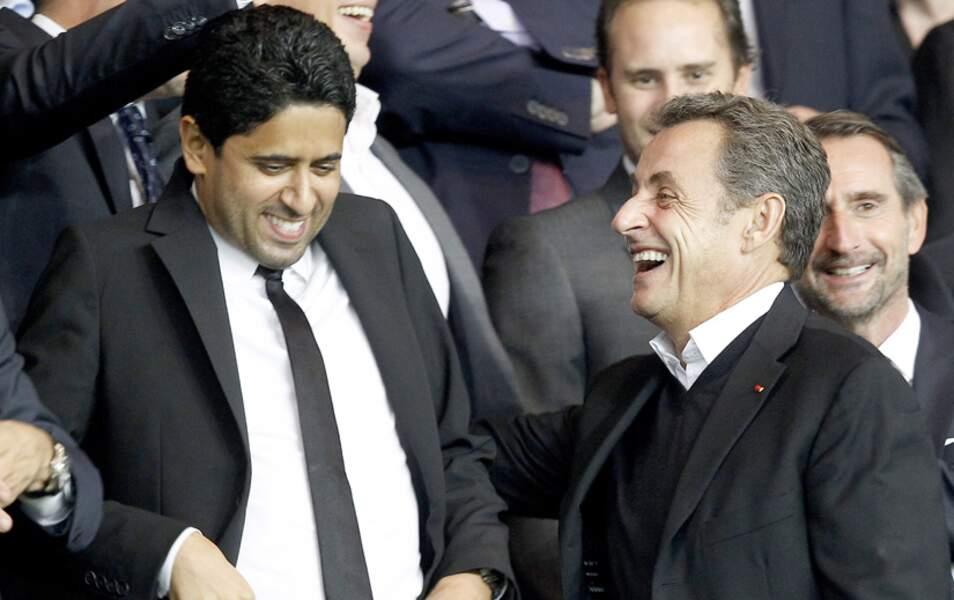 Nicolas Sarkozy et Nasser Al-Khelaïfi, président du conseil de surveillance du PSG