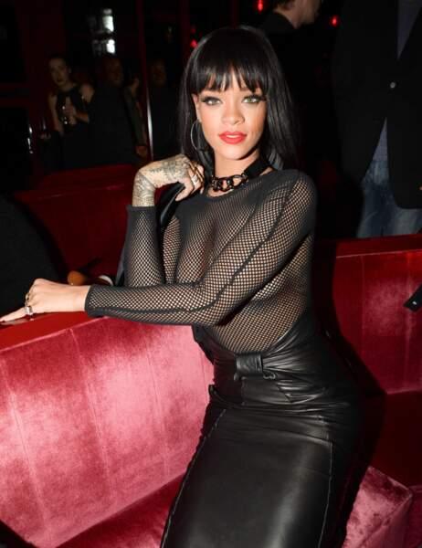 Pour la fashion week parisienne cet hiver, RiRi s'est lâchée