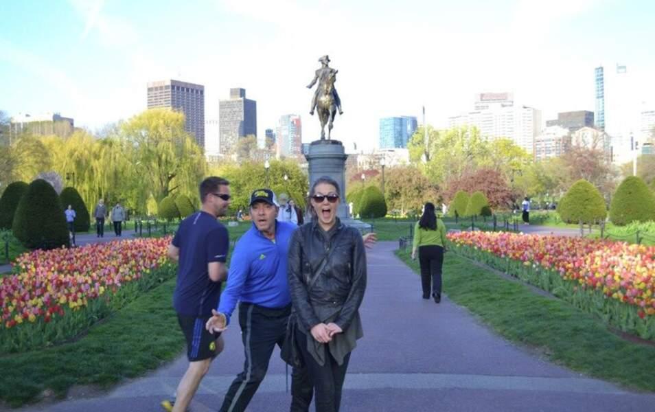 Notre chouchou Kevin Spacey a stoppé son jogging pour s'inviter sur la photo d'une touriste en visite à Boston