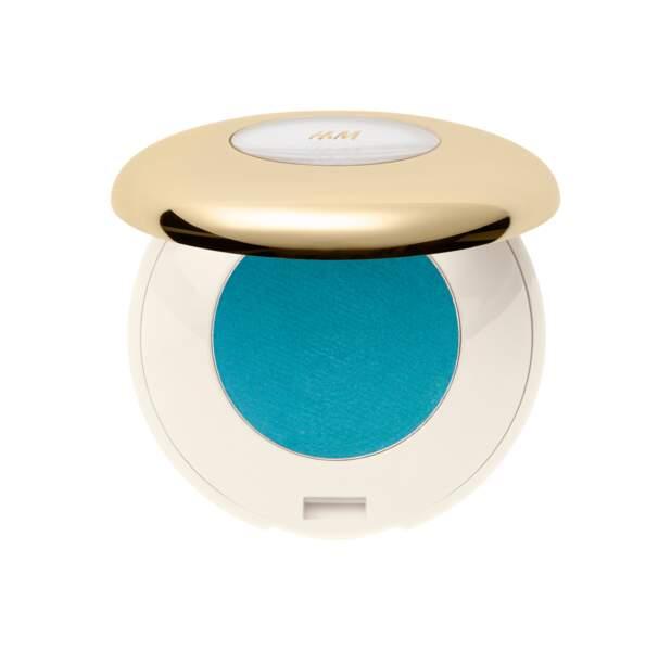 Fard à paupières turquoise, H&M Beauty, 5,99€. On aime : sa nuance de sirène flashy