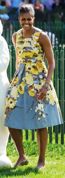 Michelle Obama en Tracy Reese