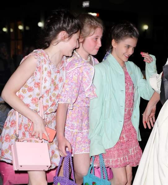 Katie Holmes emmène sa fille Suri et ses amies au restaurant Delicatessen à New York pour son anniversaire