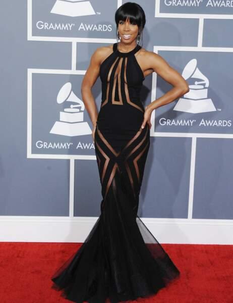 Noir et transparent, un classique qui sied parfaitement à Kelly Rowland