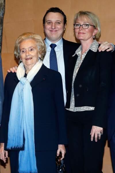 Bernadette Chirac, Martin Rey-Chirac et Claude Chirac