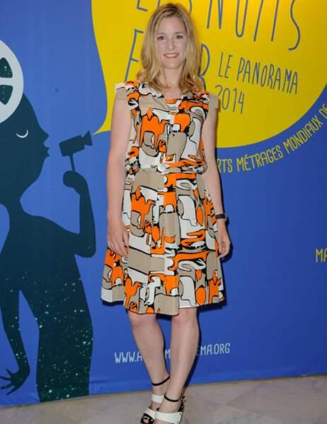 La comédienne belge Natacha Régnier (qui n'a rien à voir avec notre Yves Rénier) est très printannière