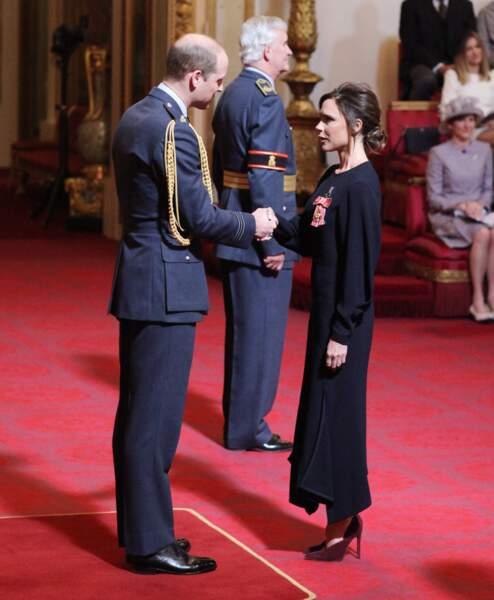Victoria Beckham et le prince William se sont quittés bons amis