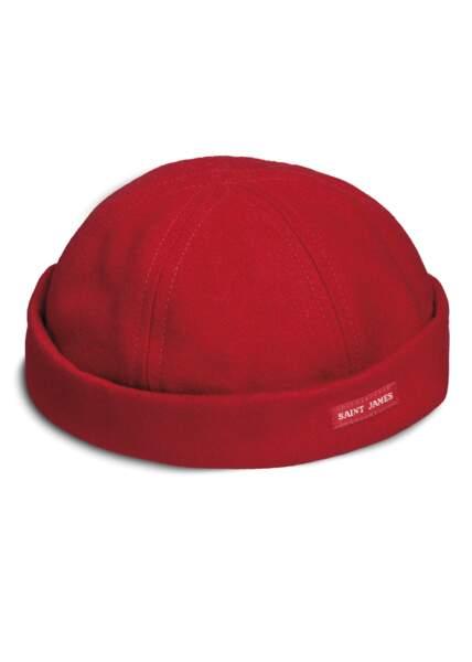 Notre sélection de cadeaux pour homme : Bonnet rouge, Saint James, 25 euros