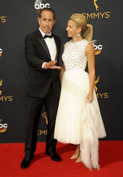 Emmy Awards 2016 : Jerry Seinfeld et sa femme Jessica