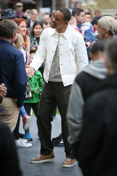 La star américaine a pris le temps de poser aux côtés de ses nombreux fans