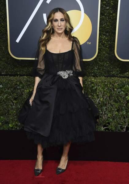 Sarah Jessica Parker lors de la 75e cérémonie des Golden Globes, le 7 janvier 2018