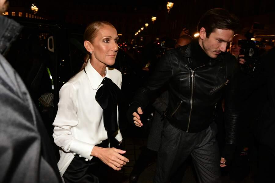 Céline Dion et Pepe Munoz au défilé Girgio Armani Privé