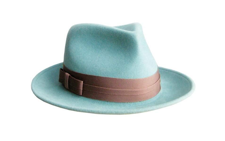 Borsalino en feutre bleu, 165€ (Lola Hats sur monnierfreres.fr)