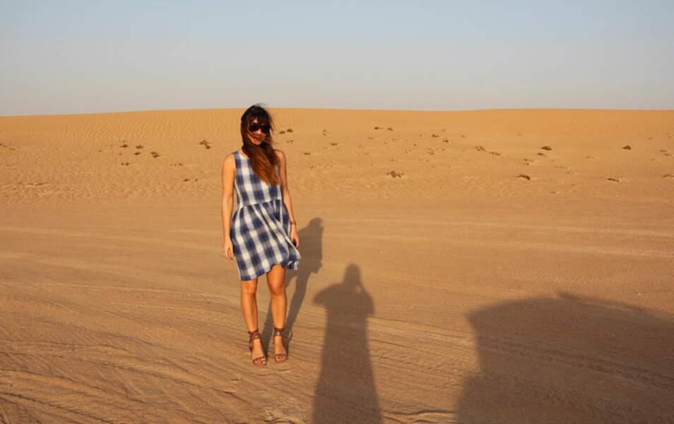 En talons en plein désert