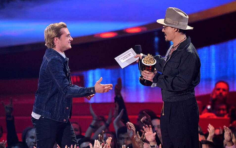 Johnny Depp et Josh Hutcherson