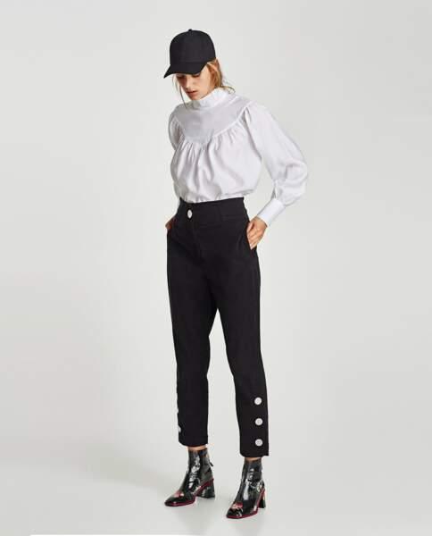 Zara : Pantalon taille haute, 25,99 euros au lieu de 39,95 euros