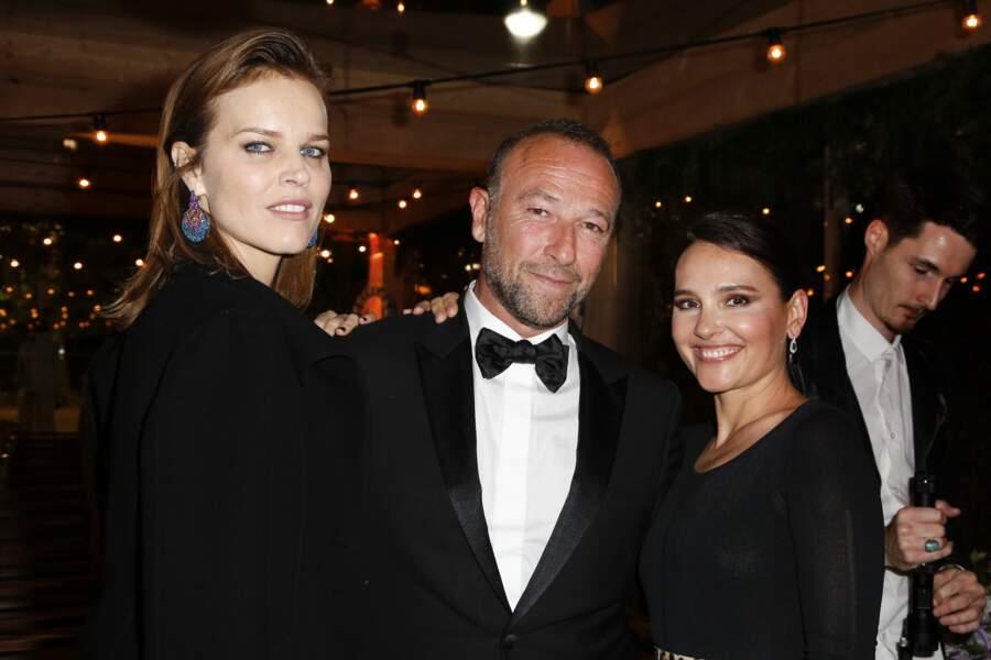 Eva Herzigová, Jerome Pulis et Virginie Ledoyen au dîner Dior et Vogue lors du Festival de Cannes