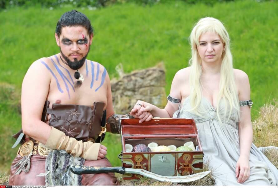 Le couple et ses oeufs de dragon