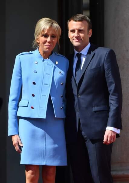 Première photo du couple Macron à l'Elysée