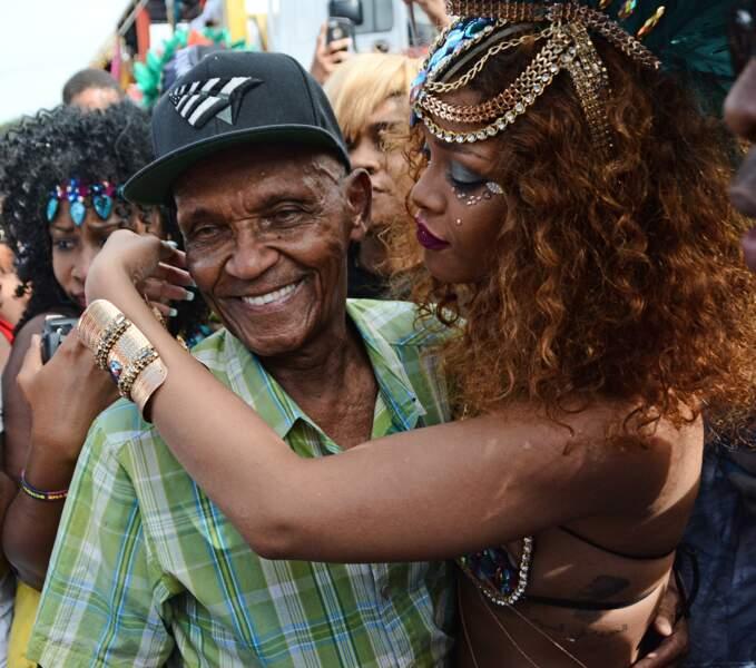 Rihanna a également fait la fierté de son grand-père