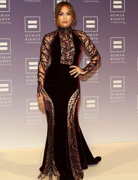 Jennifer Lopez a elle choisi la dentelle