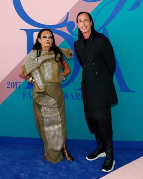 CFDA Fashion Awards 2017 - Michele Lamy (de Neptune) et Rick Owens (qui créé des vêtements avec trous pour le zizi)